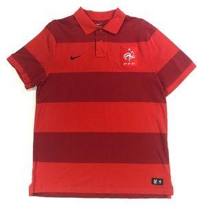 Nike France Football Federation Polo Soccer Shirt